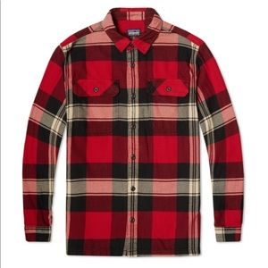 Men's Patagonia Fjord Flannel Terrace Red Plaid